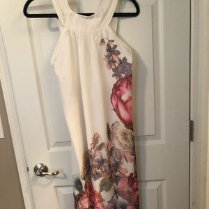 Dresses & Skirts - White and floral maxi dress